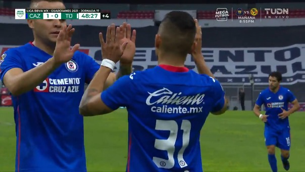 Cruz Azul 1-0 Tijuana: así fue el gol de Orbelín Pineda