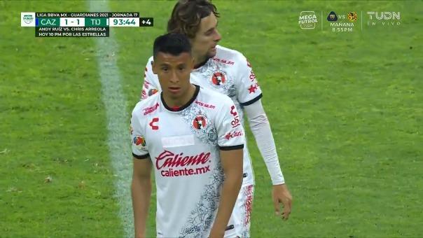 Cruz Azul 1-1 Tijuana: así fue el gol de Edgar López
