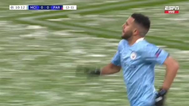 Manchester Cit 1-0 PSG: así fue el gol de Mahrez