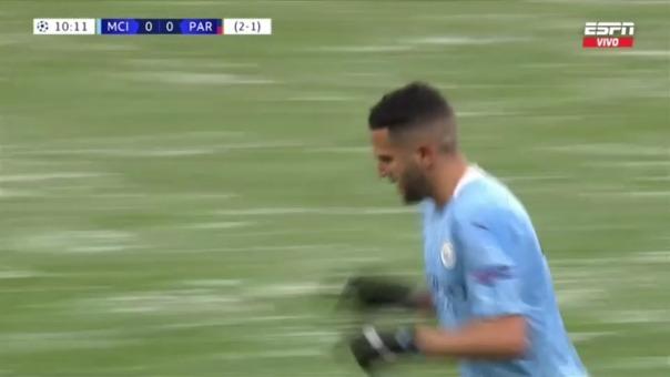 Manchester City 1-0 PSG: así fue el gol de Riyad Mahrez