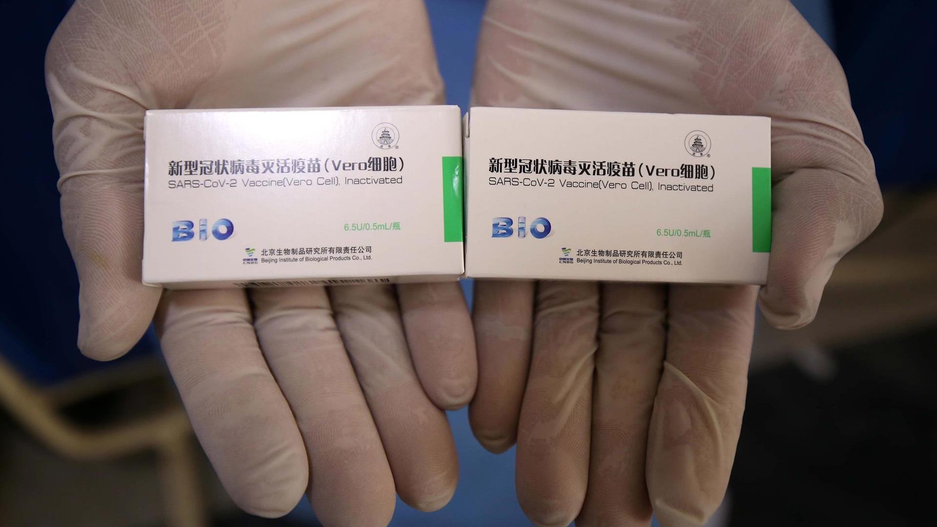 Reporte de Sinopharm sobre la eficacia de su vacuna.