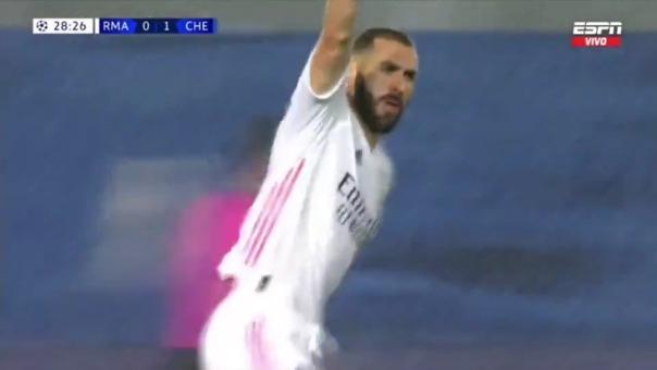 Karim Benzema anotó en el partido de ida ante el Chelsea