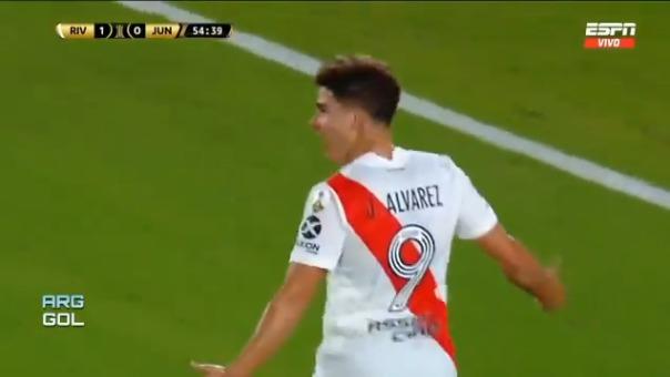 Julián Álvarez anotó en el triunfo ante Junior