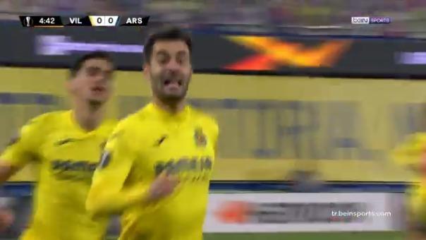 Manu Trigueros en el partido de ida ante Villarreal