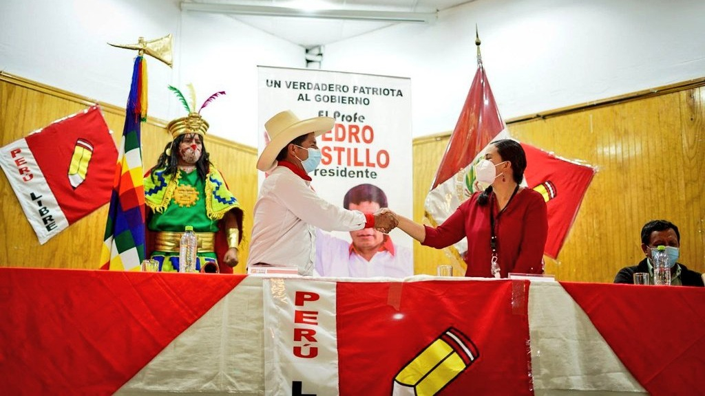 Lucía Alvites , vocera de Juntos por el Perú (movimiento Nuevo Perú).
