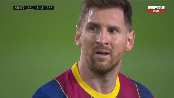 Golazo de tiro libre de Lionel Messi ante Valencia