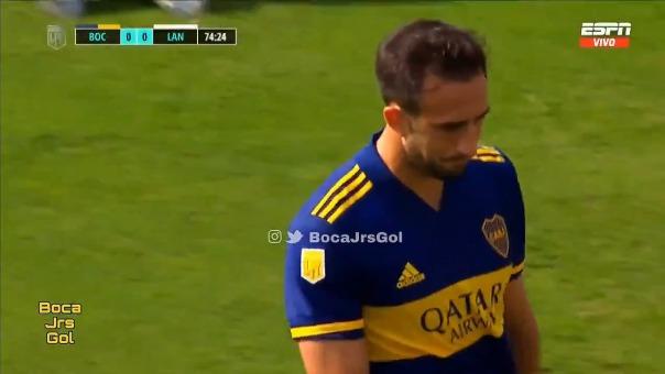Carlos Izquierdóz marcó en el triunfo frente a Lanús