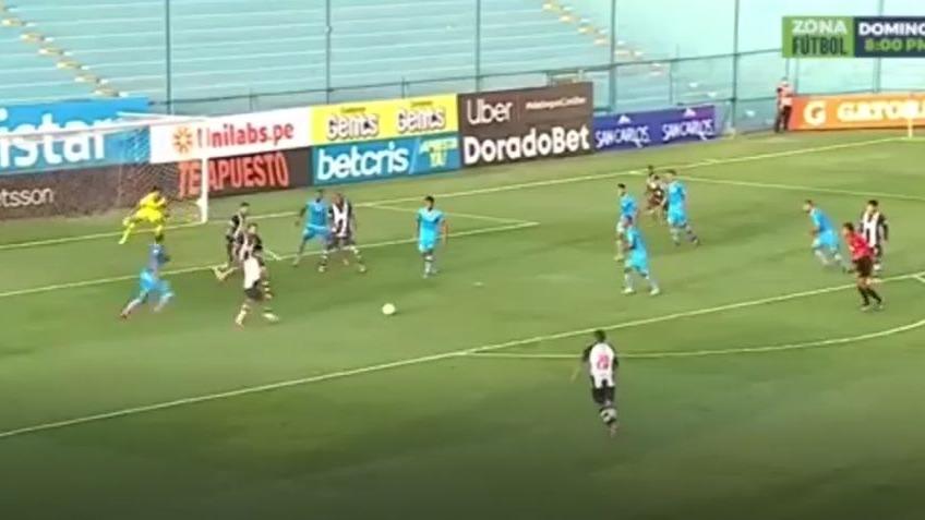 Así fue el gol de Lagos para el triunfo de Alianza Lima.