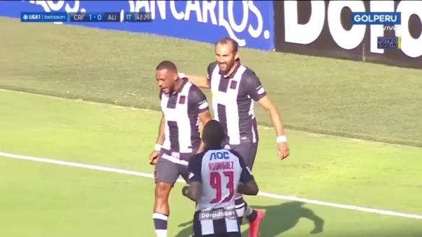 Wilmer Aguirre anotó en el partido ante Sporting Cristal