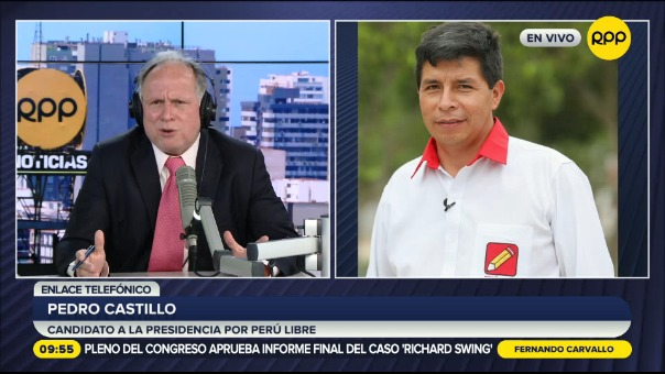 Pedro Castillo, candidato presidencial por Perú Libre.