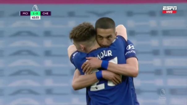Manchester City vs Chelsea: así fue el gol de Hakim Ziyech