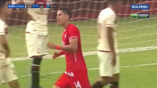 Universitario vs Cienciano: así fue el gol de Álvarez