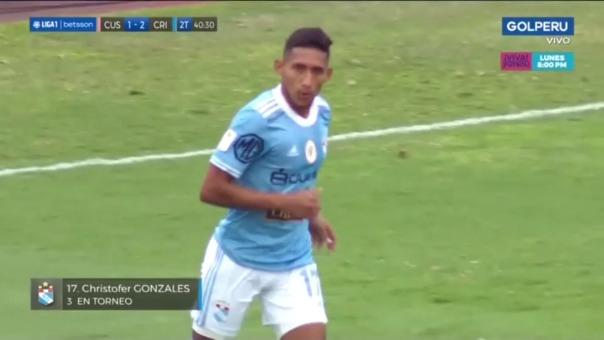 Sporting Cristal  vs Cusco FC: así fue el gol de Christofer Gonzales