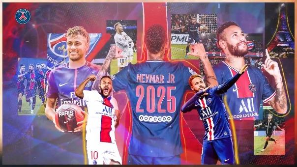 Así anunció el PSG la renovación de Neymar