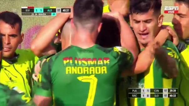 River Plate 1-1 Aldosivi: así fue el gol de Malcom Braida