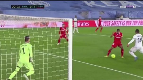 Real Madrid 0-1 Sevilla: así fue el gol de Fernando
