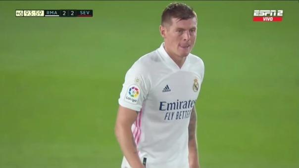 Real Madrid vs Sevilla: así fue el gol del empate del cuadro merengue