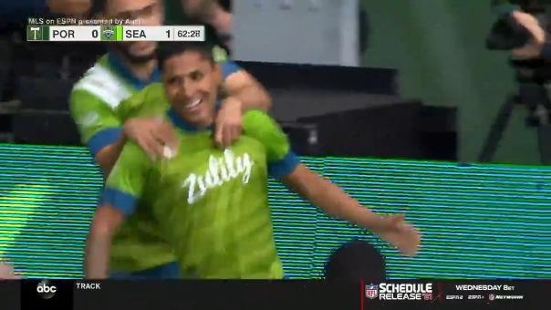 Así fue el gol de Raúl Ruidíaz en el Seattle vs Portland