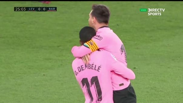 Levante 0-1 Barcelona: así fue el gol de Messi
