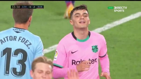 Levante 0-2 Barcelona: así fue el gol de Pedri