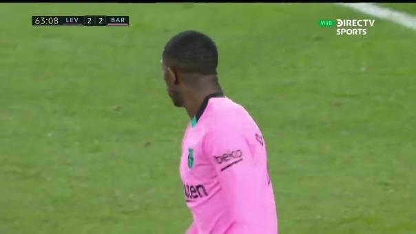 Levante 2-3 Barcelona: así fue el gol de Bembélé