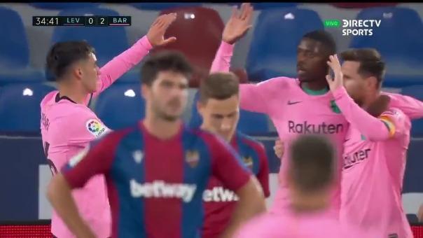 Pedri anotó el 2-0 de Barcelona ante Levante