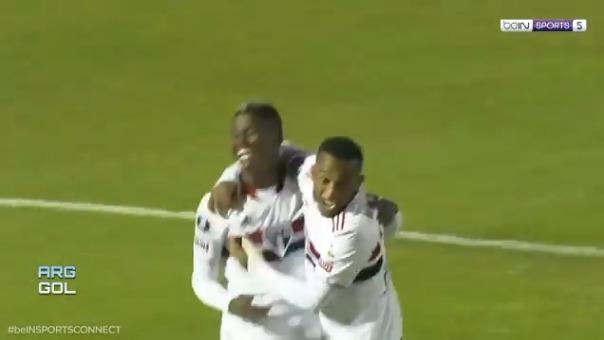 Luis Orejuela anotó el 0-1 de Sao Paulo ante Rentistas