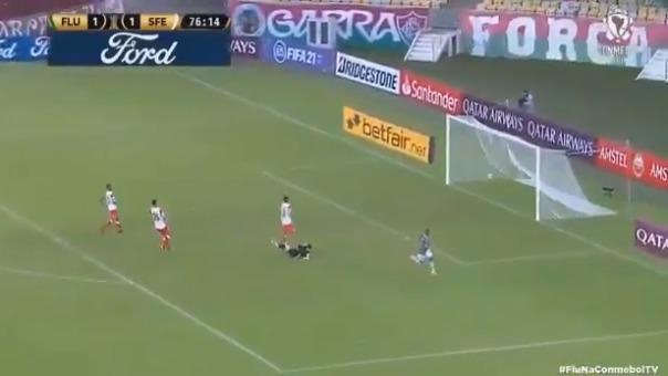 Caio Paulista marcó el 2-1 para Fluminense