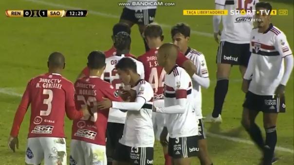 Gol de Martín González para el 1-1 de Rentistas ante Sao Paulo