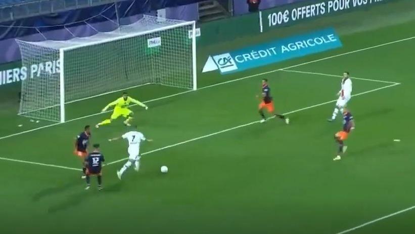 Así fue el golazo de Kylian Mbappé en el PSG vs. Montpellier.