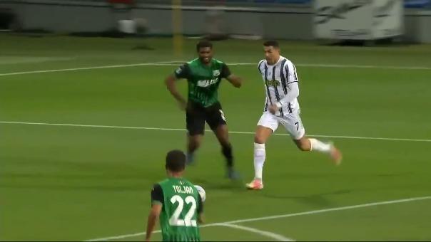 Gol de Cristiano Ronaldo para el 2-0 ante Sassuolo