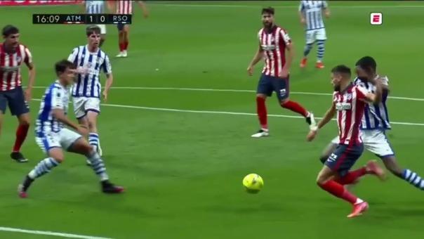 Yannick Carrasco anotó el 1-0 de Atlético ante la Real Sociedad