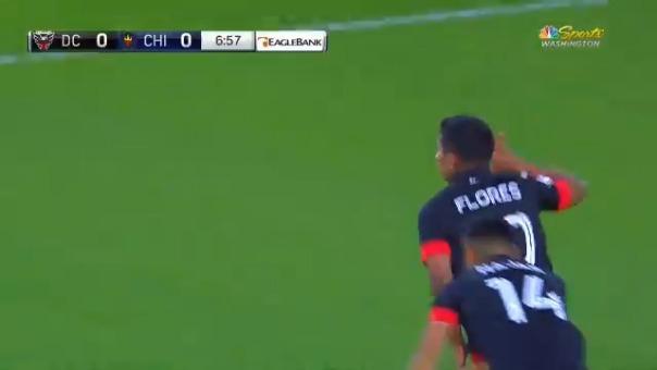 Edison Flores anotó su primer gol en la MLS