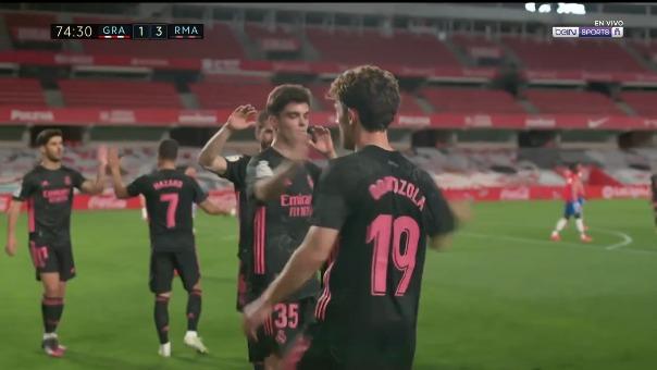Álvaro ODriozola convirtió el 3-1 para el Real Madrid