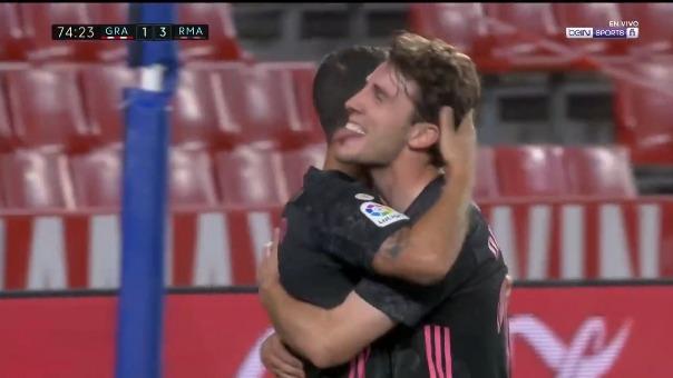 Álvaro Odriozola convirtió el 3-1 ante Granada