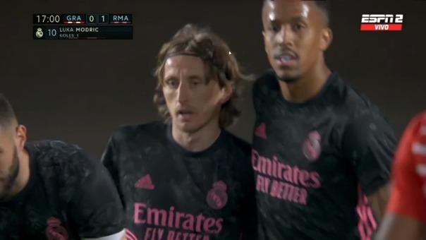Luka Modric anotó el 1-0 ante Granada