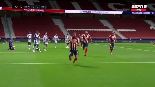 Atlético de Madrid llega al partido tras vencer a la Real Sociedad