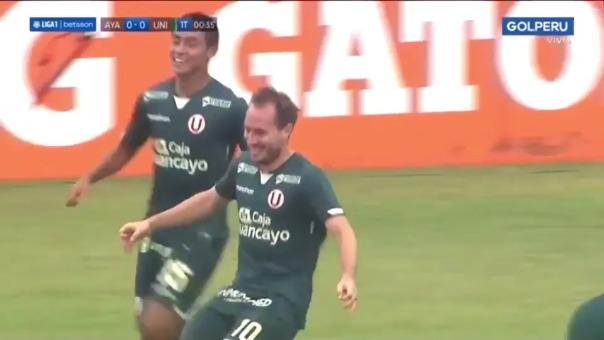 Hernán Novick anotó el 1-0 de Universitario ante Ayacucho FC
