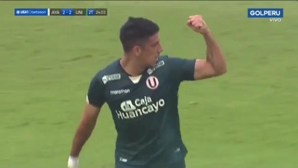 Federico Alonso anotó de cabeza el 2-2 para Universitario