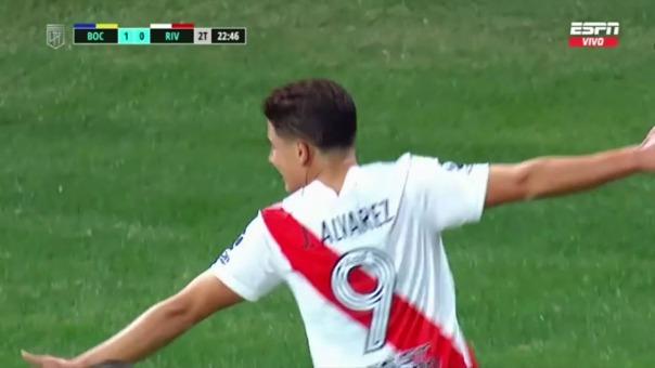 Boca Juniors vs River Plate: así fue el gol de Álvarez