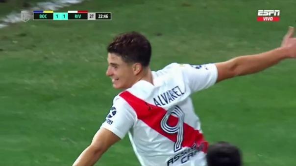Boca Juniors 1-1 River Plate: así fue el gol de Álvarez