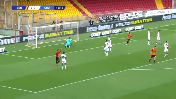 Gol de Gianluca Lapadula.