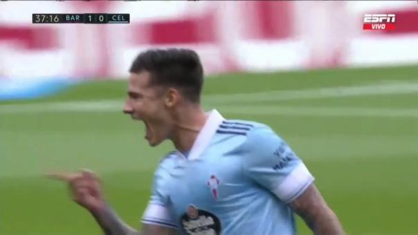 Barcelona 1-1 Celta: así fue el gol de Mina
