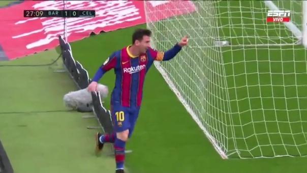 Barcelona 1-0 Celta: así fue el gol de Messi