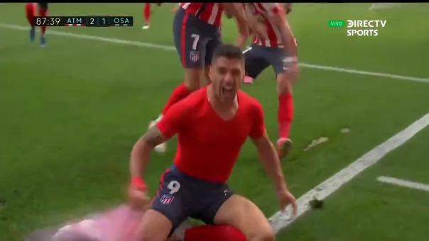 Atlético de Madrid  2-1 Osasuna: así fue el gol de Luis Suárez