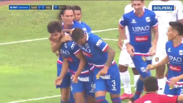 Así fue el gol de Rafael Lutiger en el Mannucci vs Melgar