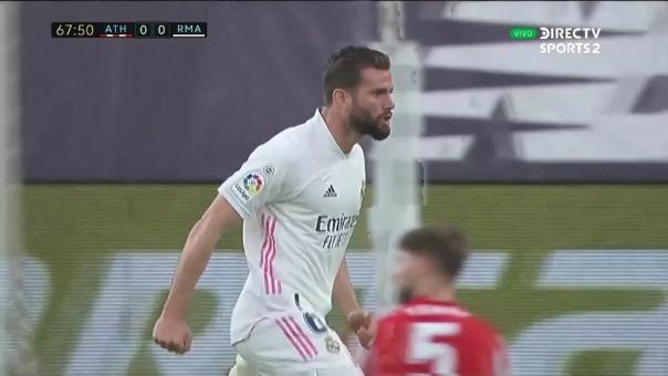 Athletic Bilbao 0-1 Real Madrid: así fue el gol de Nacho