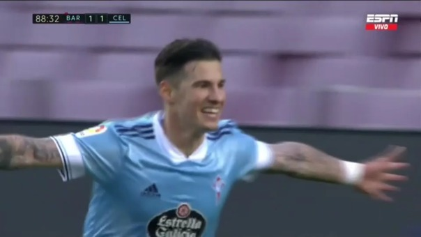Barcelona 2-1 Celta: así fue el segundo gol de Santi Mina
