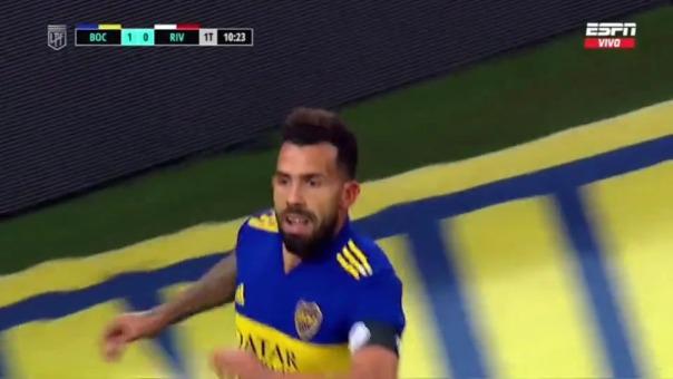 Boca Juniors 1-0 River Plate: así fue el gol de Tevez