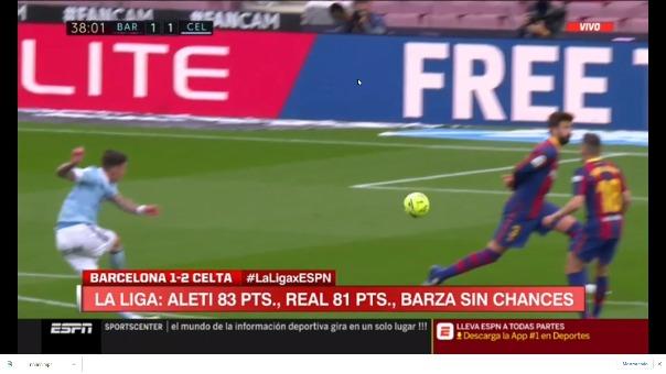Primero gol de Celta.
